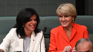 Julia Banks (left) said she told fellow Liberals she was voting for Julie Bishop in the leadership spill.