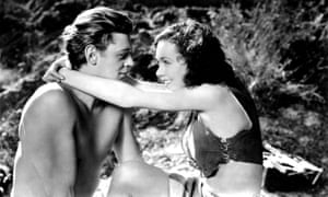 Johnny Weissmuller and Maureen O'Sullivan in Tarzan and His Mate (1934)