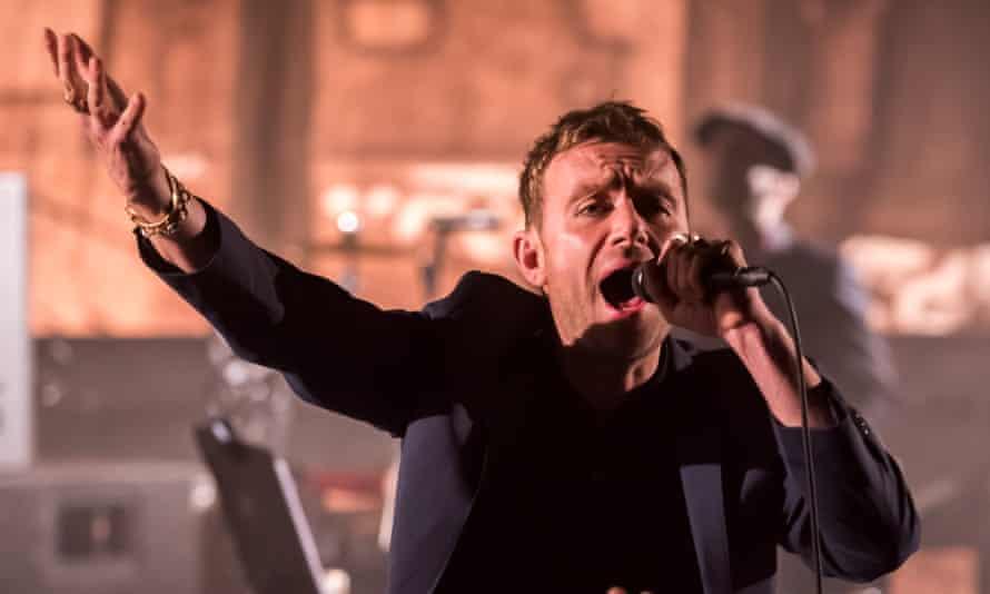 Gorillaz frontman Damon Albarn on stage