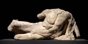 The river god Ilissos, from the west pediment of the Parthenon, c438-432BC.