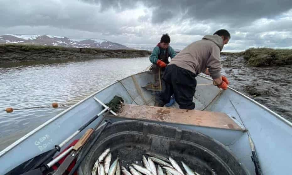 Lisa Charles's family on a fishing trip.