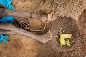 Umama Belakoba's feet
