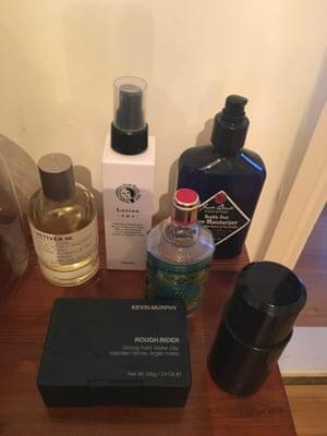 Tim Jonze's beauty products