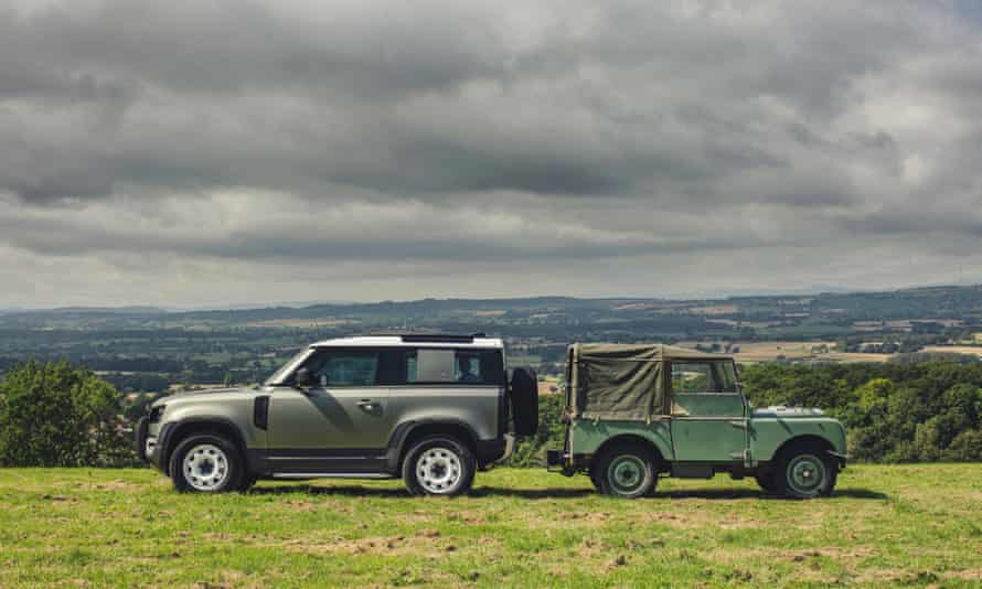 The old and the new Land Rover Defender