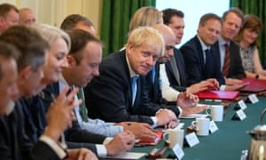 Boris Johnson holds his first cabinet meeting as British prime minister