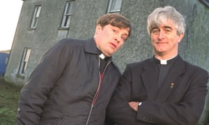 Father Ted, with Ardal O'Hanlon (left) and the late Dermot Morgan.
