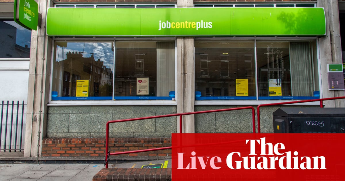 UK employment falls and wages shrink as Covid-19 hits jobs market - business live | Business | The Guardian