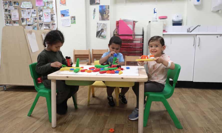 Children at the nursery