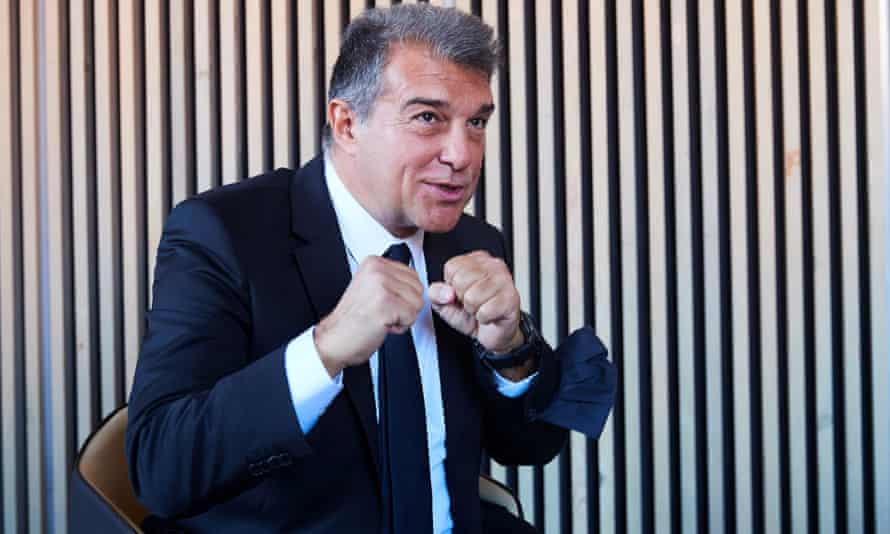Joan Laporta is the Barcelona president once again.