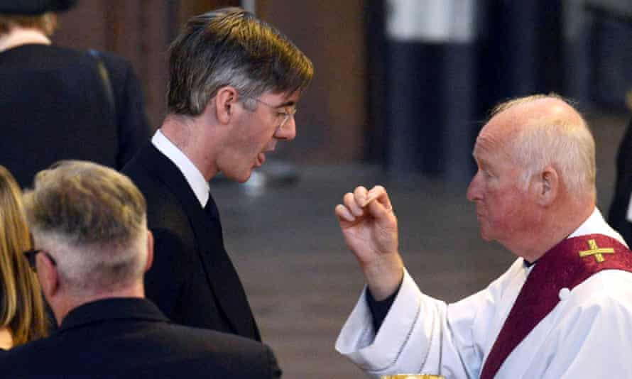 Conservative Party MP Jacob Rees-Mogg receives Holy Communion during the funeral of Cardinal Cormac Murphy O'Connor at Westminster Cathedral, London, Britain, September 13 2017. REUTERS/Mary Turner