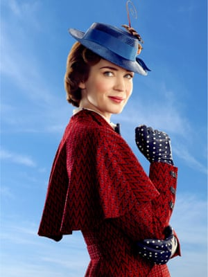 The perfect nanny: Emily Blunt in Mary Poppins Returns.