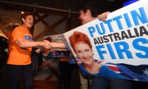 One Nation's Pauline Hanson on election night