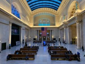 Chicago's Union station, USA.