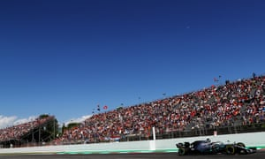 Lewis Hamilton led home a Mercedes one-two for the fifth time this season.