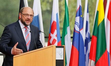 Martin Schulz speaking in Luxumbourg