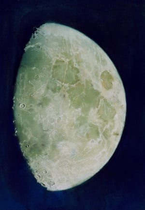 Framed pastel drawing entitled The Moon by John Russell (c.1787)