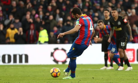 Luka Milivojevic penalty earns Crystal Palace draw with Newcastle