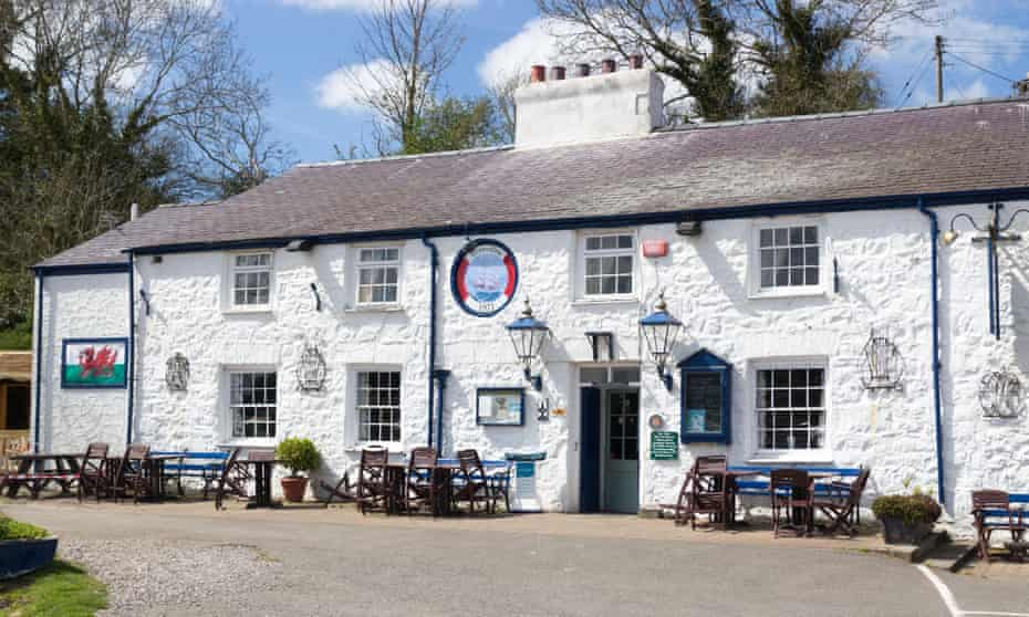 The historic Ship Inn in Red Wharf Bay, Anglesey, Wales, UK.
