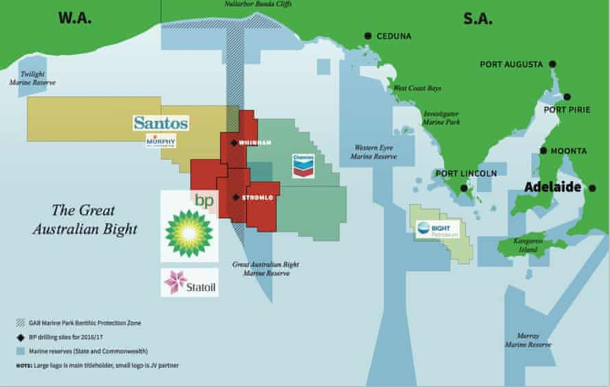 In a document released by BP entitled 'Update on regulatory approvals', the company included a small map showing the location of the planned wells