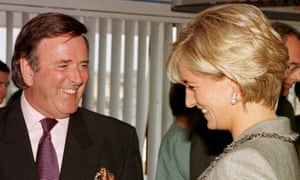Sir Terry Wogan with Diana, Princess of Wales in 1997.