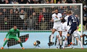 Eriksen nets his side's third goal.