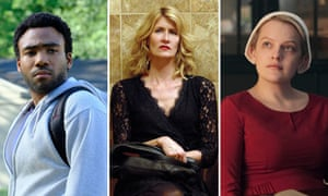 Donald Glover in Atlanta, Laura Dern in The Tale and Elisabeth Moss in The Handmaid's Tale.