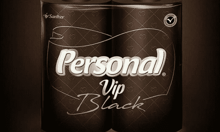 The Personal VIP Black toilet paper was launched Monday, prompting anger across social media.