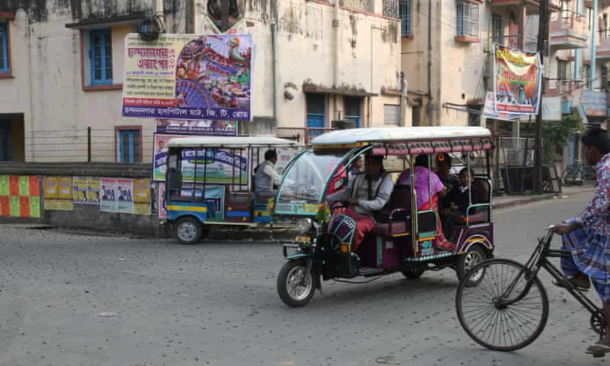 A Toto on the streets of Chandannagar, India