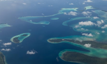 An aerial view of the Solomon Islands.