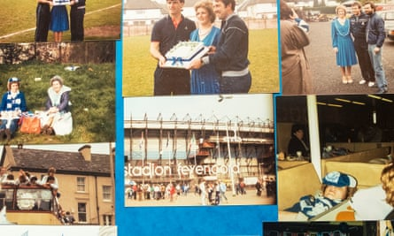 Elaine Shaw and friends on their trip to Rotterdam to see Everton play the 1985 Cup Winners' Cup final.