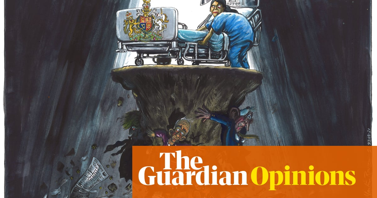 Martin Rowson on the Queen's overnight hospital stay – cartoon