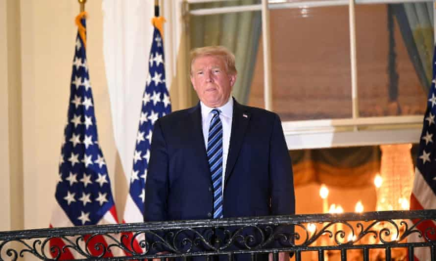 Donald Trump returns to the White House on Monday after being hospitalized at Walter Reed Medical Center for coronavirus disease.