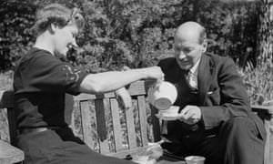 Clement Attlee and his wife Violet taking tea in the traditional way in 1943.