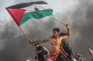 Palestinian protester, Gaza City