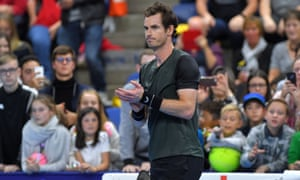 Andy Murray on court