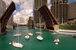 Boats at Marina City, Chicago.