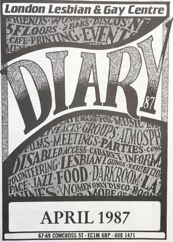 London Lesbian and Gay Centre diary.