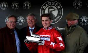 Harry Cobden with the Badger Beers Trophy at Wincanton