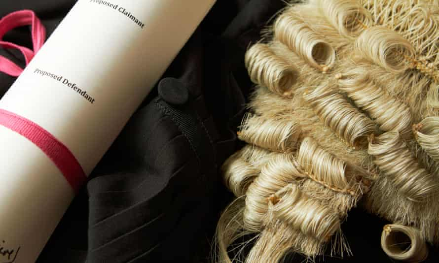 Still Life Of Barristers Wig, Gown And Brief