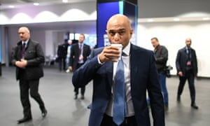 Sajid Javid at the Conservative party conference this morning.