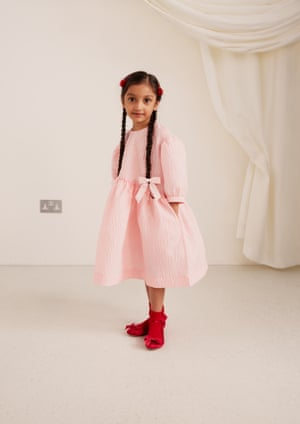 """""""I used to get asked to do childrenswear all the time, and of course in the past I have made bespoke pieces for my own daughter and for friends, but this is the first time I have done a collection for the whole family, so that felt really special."""" Dress, £39.99, shoes, £59.99."""