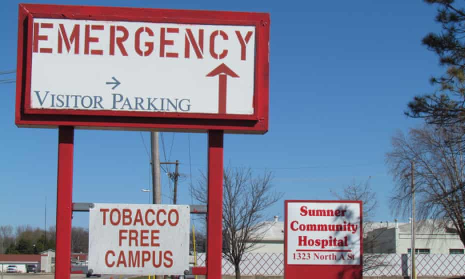 Sumner Community Hospital closed down with 'abruptly and without warning'.
