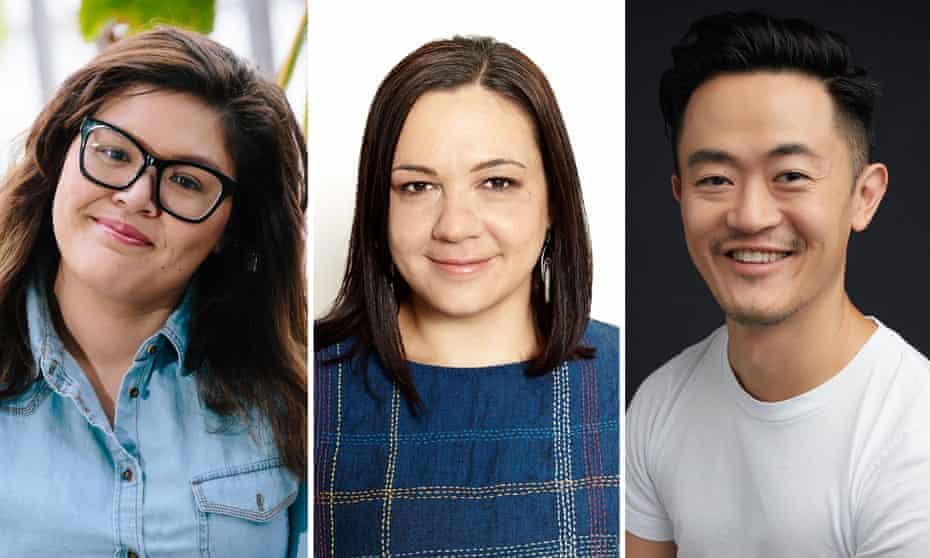 Nakkiah Lui, Penny Smallcombe and Benjamin Law.