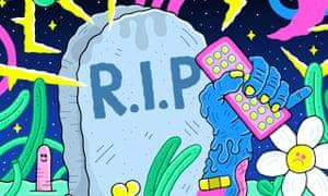Death of TV endings cartoon