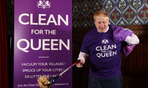 Mayor of London Boris Johnson pictured at the parliamentary launch of Clean for The Queen campaign