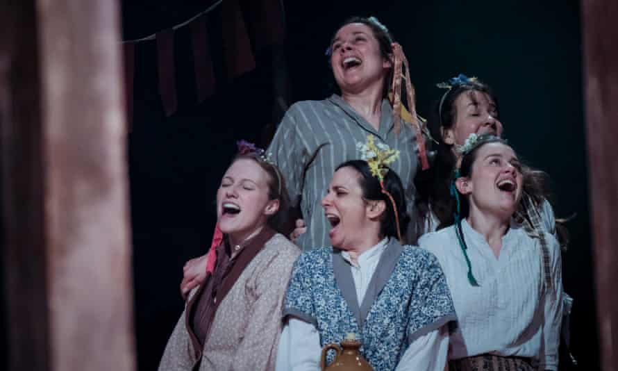 Laughter and dance … The Ballad of Maria Marten has an all-female cast.