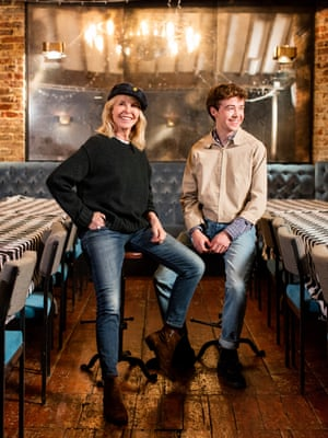 Trudie Styler and Alex Lawther.