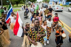 A Juneteenth parade in Flint, Michigan.
