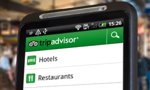 The TripAdvisor app on a smartphone