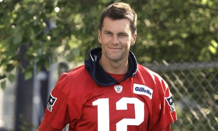 Tom Brady at the Patriots training camp earlier this month